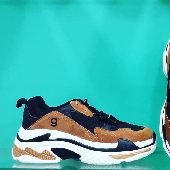 Zapatillas!!plataforma Ultima Moda!!! Varios Colores