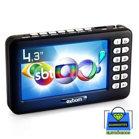 Mini Tv Digital 4.3 Isdb-t Portátil Exbom Mtv-43a