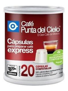 Punta Del Cielo Cápsulas De Café Espresso Lata 20 Cápsulas