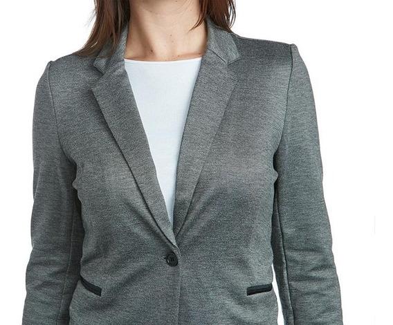 Blazer Gris Para Mujer Sahara Pr-3205252