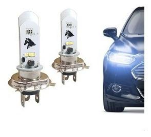 2 Lampadas Farol Led H4 Moto / Carro 8000k Super Branca