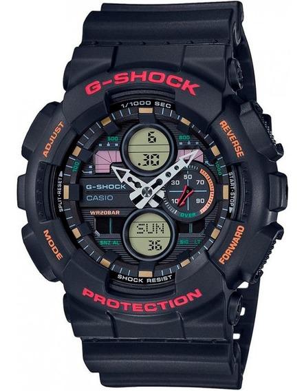 Relógio Casio G-shock Preto Ga-140-1a4dr + Garantia + Nfe