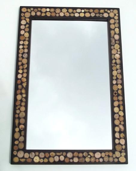 Espelho De Marchetaria Natural