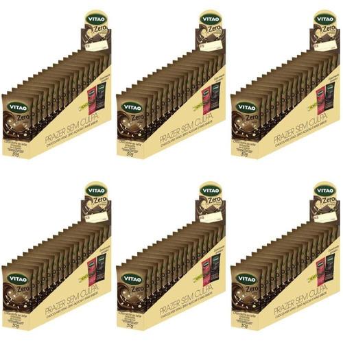 Imagem 1 de 1 de Vitao Chocolate Zero Ao Leite C/ Cereais 18x30g (kit C/06)