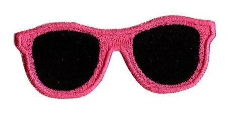 Patch Talysma P/ Jaqueta Camiseta Calça Jeans - Óculos Rosa