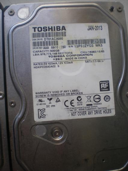 Hd 500gb Sata Toshiba Para Pc / Dvr Perfeito + Cabo Sata