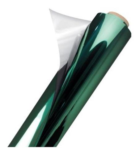 Película Adesiva Film Espelhado Verde Bandeira 0,50x2m