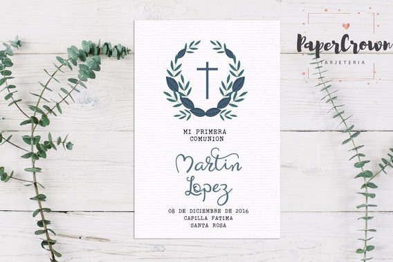 Tarjeta Imprimible Comunion/bautismo - Nene Mod. 26