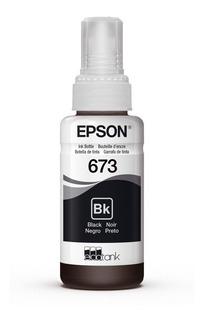 Botella Tinta Epson T673 Original Negro 70 Ml T673120
