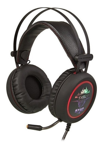 Headset Gamer Com Microfone 7.1 Sound Light Knup Kp-401
