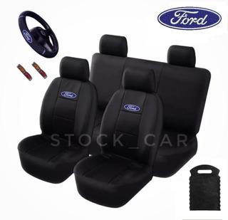 Capas Banco Couro Ford Escort Conversível Xr3 Hobby Sedan