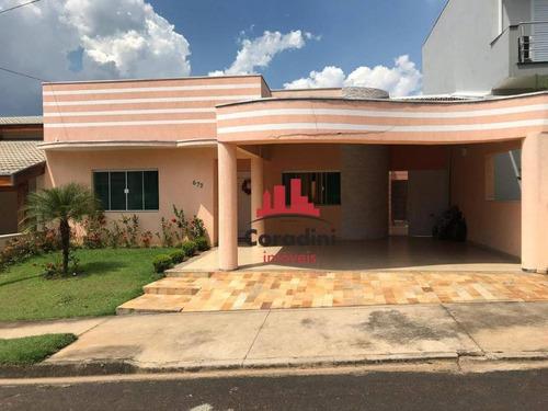 Imagem 1 de 12 de Casa Com 3 Dormitórios À Venda, 210 M² Por R$ 700.000 - Condomínio Imigrantes - Nova Odessa/sp - Ca1861