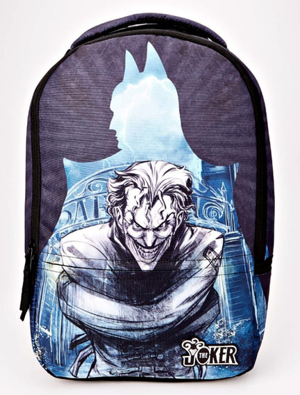 Mochila Dc Comic Batman Joker Arkham Assylum Original Adulto