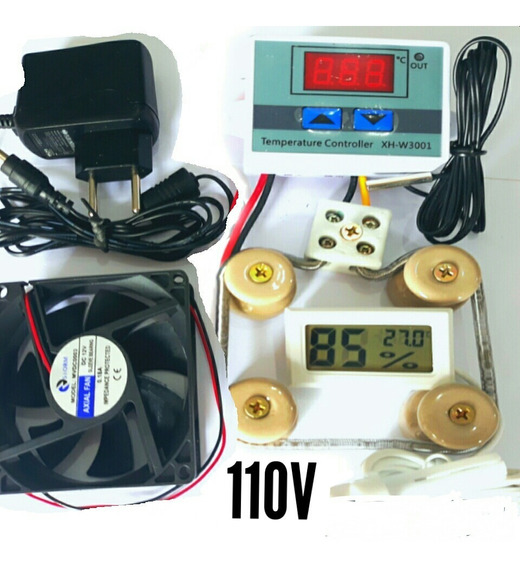 Kit Para Chocadeira 110v Termostato,resistência,medido,culer