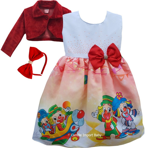 Vestido Infantil Do Patati Patata E Bolero Envio Rápido