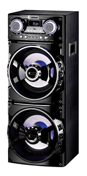 Caixa De Som Amplificada Amvox Aca1001 Usb Sd Bt Karaoke