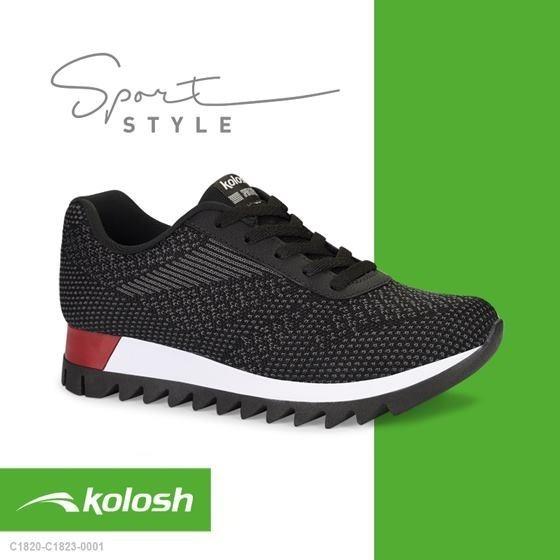 Tênis Kolosh Jogging Malha Feminino C1823 - Gaby Calçados - Promoção