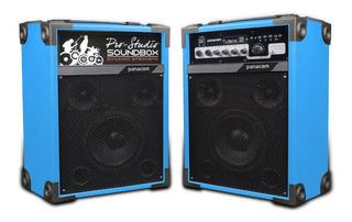 Parlante Activo Y Pasivo X 2 Usb Sd 2 Mic Karaoke Bluetooth