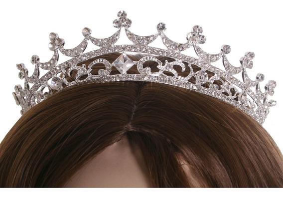 Elegante Boda Nupcial Tiaras Pelo Austriaco Corona Rhineston