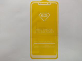 Pelicula 6d Para Smartphone Xiaomi Redmi Note 6 Pro Branca