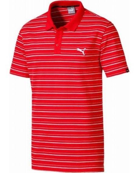 Camisa Polo Puma Hombre Caballero Roja Pique Deportiva Golf