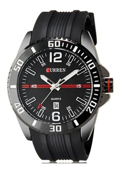 Relógio Masculino Curren 8178 Analógico Casual Preto Com Nf
