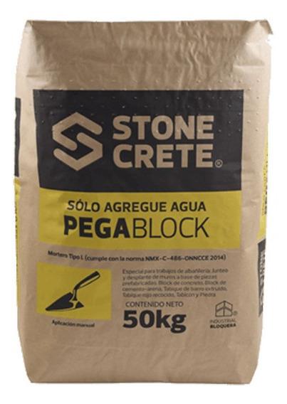 Stonecrete Pegablock Mortero Predosificado Resisten240kg/cm2