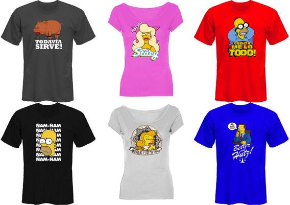 Remeras The Simpsons Unicas! Mira Las Fotos! *mr Korneforos*