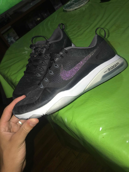 Zapatillas Nike Zoom Training Talle 6us Negras