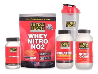 Combo Crecimiento Musculos Marcados Proteína Creatina Nitric