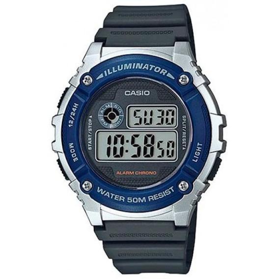 Relógio Casio Masculino Esporte Azul Digital W-216h-2avdf
