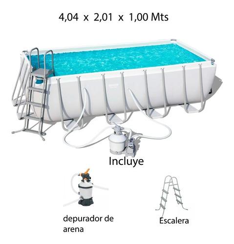 Piscina Armable Bestway 4 X 2 X 1.00 Mts Depurador De Arena
