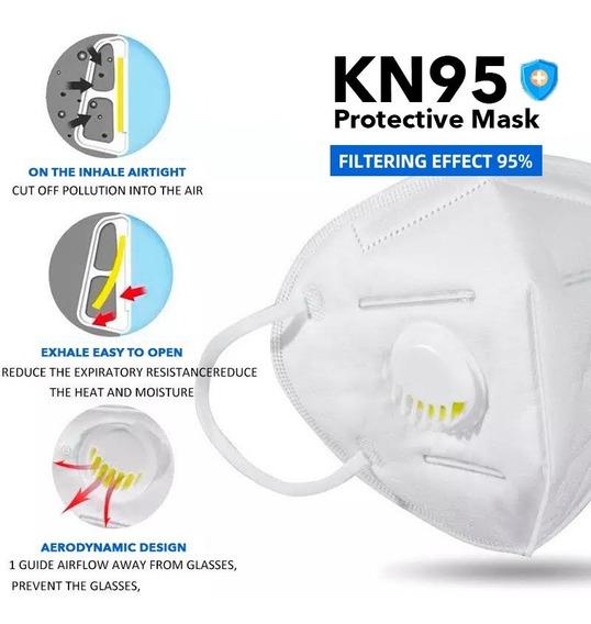 Cubrebocas N95 Válvula 5 Capas Filtro Respirador Kn95 | 1pz