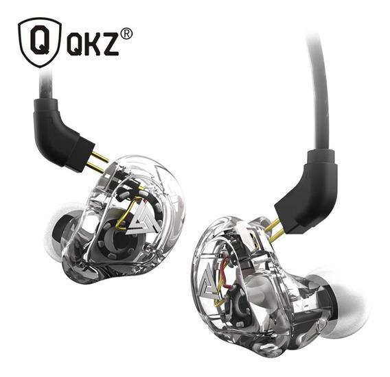 Qkz Vk1 3,5 Mm Fones De Ouvido Com Fio Duplo Bobina Móvel 4d