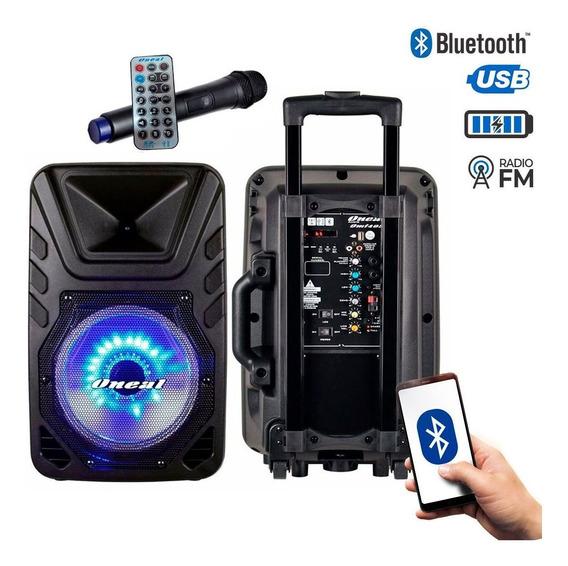 Caixa De Som Portátil Omf 425 Bateria Bt Usb Microfone