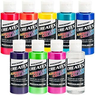Colores De Pintura Iridiscente 8 Createx Airbr