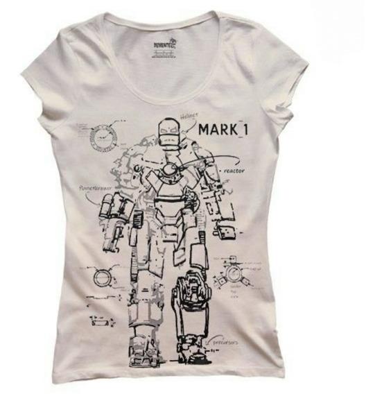 Remera Dama Iron Man Mark1 Calidad Premium