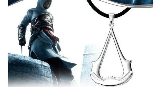 Colar Corrente Assassins Creed Guilda Prateado Frete Grátis!