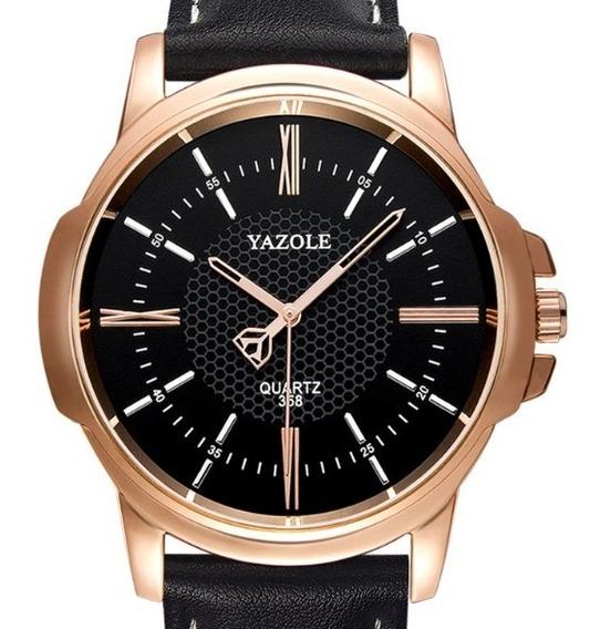 Reloj Para Hombre Elegante En Caja Y Protector Casual Yazole
