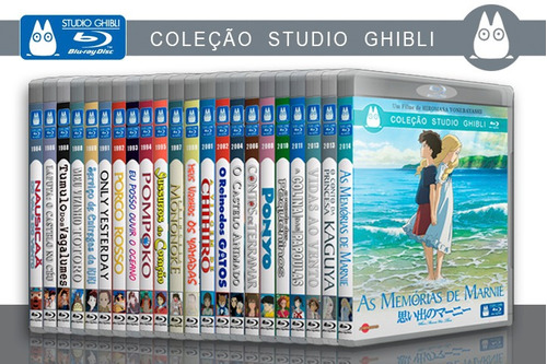 Studio Ghibli - Coleção Blu-ray 29 Filmes + Ronja Serie Tv