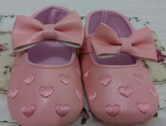 Sapatos Femininos Sapatinhos Bebes Meninas Couro Algodão