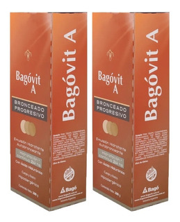 2 Cremas Autobronceante Bagovit A Emulsión Hidratante 200 G