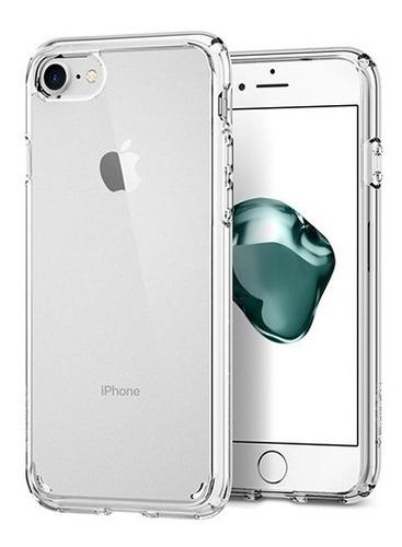 Protector Funda Acrilico + Borde Tpu Para iPhone 8