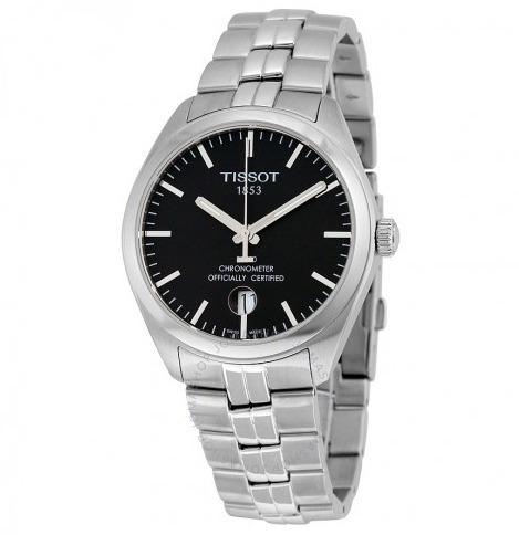 Relógio Tissot Masculino Pr100 Prata/preto Cronômetro Suíço