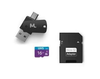 Cartão Micro Usb 16gb 4 X 1 Adaptador Usb