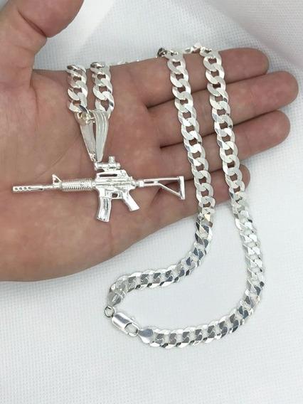 Cordão Escamado 9mm 70cm+fuzil Prata 925 +2 Bd