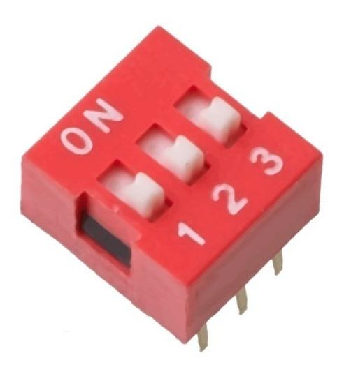 Chave Seletora Dip Switch 3 Vias 180 Graus Arduino Pic Arm
