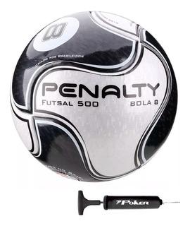 Bola Futsal Penalty 8 Ix Brinde Bomba Encher