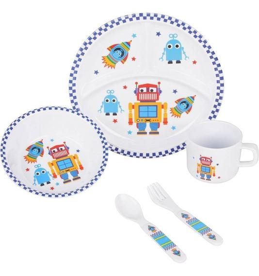 Kit Infantil 5pcs (prato, Bowl, Caneca, Garfo E Colher) -