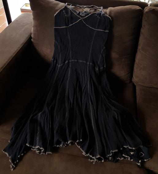 Vestido Armani A/x Negro Tipo Cóctel, Usado.
